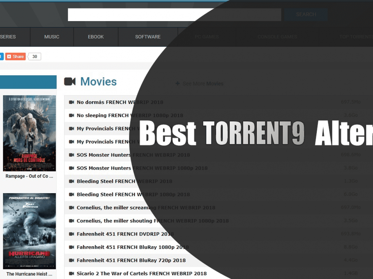 The 6 alternatives to Torrent9